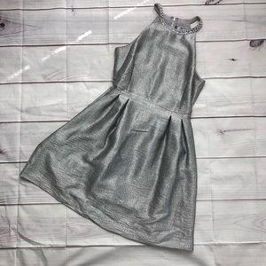 Silver Halterneck Dress